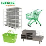 Prateleiras de armazenamento de equipamento de supermercados Bakset