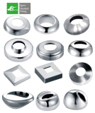 L'AISI 304 316 Balcon Accessoires en acier inoxydable de la plaque de couvercle de base de la main courante