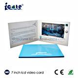 昇進のための熱い販売の7インチLCDのビデオパンフレットペーパーカード