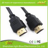 Überzogenes HDMI Kabel Hersteller-Universalschwarzes Belüftung-Gold