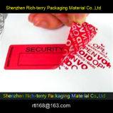 Etiqueta autoadhesiva de encargo de la seguridad de la alta calidad