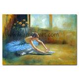 Het indrukwekkende Olieverfschilderij van het Cijfer van de Balletdanser voor het Decor van de Muur