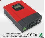 MPPT 태양 책임 관제사, PV 규칙, 태양 예광탄 40A 12V 24V 36V 48V 자동 일