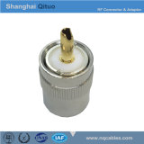 Ficha RF UHF (SL16) plugue macho reto (UHF(SL16) J7) (agulha de ouro, conjunto de duas peças)
