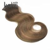 最上質ボディ波の組合せカラー拡張の18インチの人間の毛髪クリップ