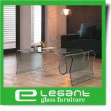 Tavolino da salotto di vetro piegato elefante nel colore glassato
