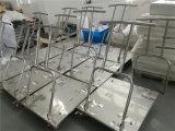 Het Op zwaar werk berekende Karretje van het Roestvrij staal van de School van het Ziekenhuis van Industral met Gietmachine