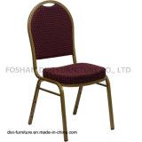 호텔 가구 돔 Burgundy에 의하여 모방되는 직물과 형 거품을%s 가진 뒤 겹쳐 쌓이는 연회 의자