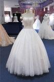 fora do ombro que perla o vestido de casamento do vestido nupcial da esfera