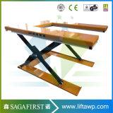 Table élévatrice hydraulique électrique de ciseaux de forme d'U pour les palettes de levage