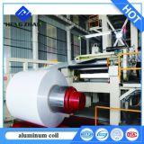 PE/PVDF Nano Witte Kleur Vooraf geverfte Plaat van het Dakwerk van het Aluminium voor het Verpakken van de Tegel