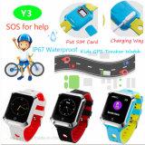 Het nieuwste Waterdichte GPS van Jonge geitjes Slimme Horloge van de Drijver met het Scherm van de Aanraking Y3