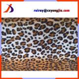 Diverse couches et chaîne de garniture ou tissu tricoté de trame de léopard