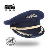 Qualitäts-Marine-Ermächtigungs-Offizier-Hut mit Goldstickerei