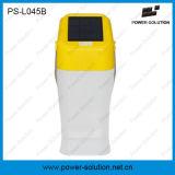 Linterna portable al aire libre de interior del panel solar del color amarillo