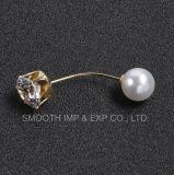 형식 모조 다이아몬드 브로치 숄 핀 최신 진주 보석 구슬 접어젖힌 옷깃