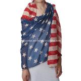 نساء بيضاء وزرقاء [أمريكن فلغ] وشاح طويل