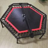 Mini hexagonal trampolim com pega de barra em T