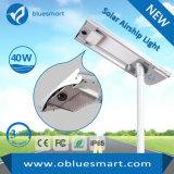 lámpara de calle al aire libre solar de 40W LED con alta calidad