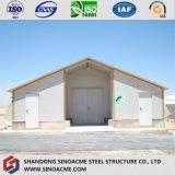 China Prefabricados de estructura de acero de fácil instalación del almacén de aves de corral