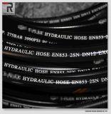 Zwarte Hydraulische RubberSlang met het Vlotte Oppervlakte Gegraveerde Merken