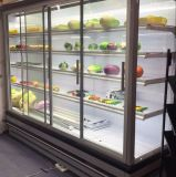 Urprightのガラスドアのスーパーマーケットのための商業表示フリーザー