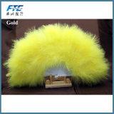 Ventilador plegable de la mano de la pluma grande elegante suave mullida