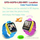 1,54 pulgadas de pantalla táctil WiFi GPS Tracker ver con la cámara D18