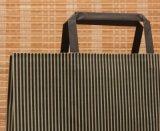 Papel plano manejar tiendas de diseño personalizado regalo bolsa de papel Kraft impreso