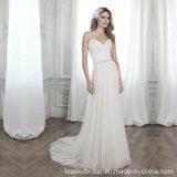 2015 Mariage romantique robe à fines bretelles gaine de sol longueur Blanc Brodé robe W1471954