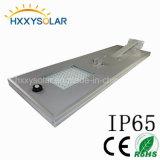 Solar de 100W Calle luz LED con sensor de movimiento de microondas