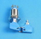 Interrupteur de verrouillage de l'électeur de 19mm, 2 POSITION 3 interrupteur à clé (LAS1-19-11ZK)