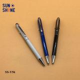 Crayon lecteur de bille promotionnel d'aiguille de crayon lecteur en métal lisse d'écriture