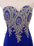 Handmade appliqués S robe de soirée élégante robe sans manches formelle