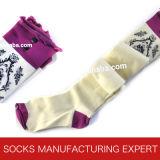 Baumwolle 100% der Frau Coloful Gefäß-Socke (UBM1047)