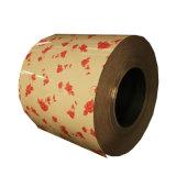 Couleur de motif en bois en acier recouvert de fleur PPGI bobine/conception de la bobine