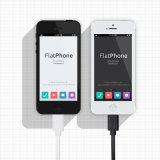 Le PVC coloré a isolé 8 câbles usb de foudre de Pin pour l'iPhone 6 6plus