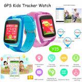 Relógio novo do perseguidor do GPS dos miúdos com tecla do SOS (Y15)
