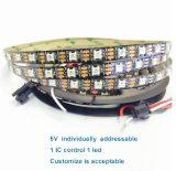 Ws2812 ha aggiornato 30 l'indicatore luminoso di striscia flessibile indirizzabile programmabile del LED 5V SMD 5050 RGB LED
