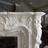 Mensola del camino di marmo di pietra naturale di marmo bianca del camino della decorazione