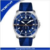 最上質の水晶メンズスポーツの腕時計ナイロンストラップの腕時計