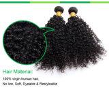 Prolongements humains en bloc crépus de cheveux de cheveux de Remy de 20 pouces