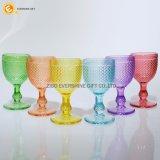 Tafelgeschirr farbiges Glaskristallwein-Glas
