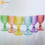 Vidrio de vino cristalino de cristal coloreado vajilla