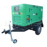 Keypower 50kVA de muebles generador con las ruedas del remolque 60Hz para el área de cuadrícula sin alimentación