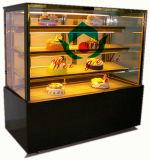 Vitrina de la panadería de la exhibición del refrigerador de la torta con el vidrio recto