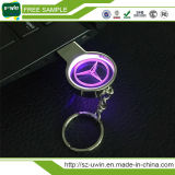 O logotipo personalizado do Laser 3D Crystal Flash Memory Stick USB com luz LED de cor