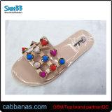 Летом открыть ноги красочной рельефная душ House Beach крытый желе тапочки для женщин Дамы