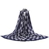 Шаль Pashmina способа равнины решетки женщин связанная шарфом квадратная
