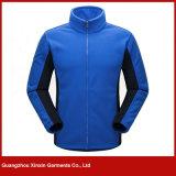 남자의 가득 차있는 스포츠 지퍼 극지 양털 재킷 (J152)